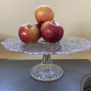 Vintage Imperial Glass Pedestal Cake Stand